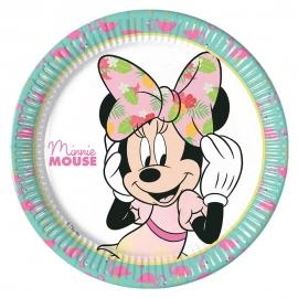 Juego de 8 Platos Minnie Mouse Tropical 23 cm