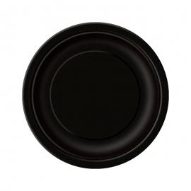 Juego de 8 Platos Negros 17 cm