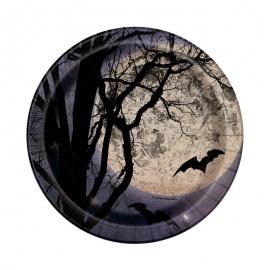 Juego de 8 Platos Noche de Halloween 17 cm
