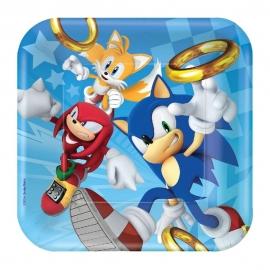Juego de 8 Platos Sonic The Hedgehog