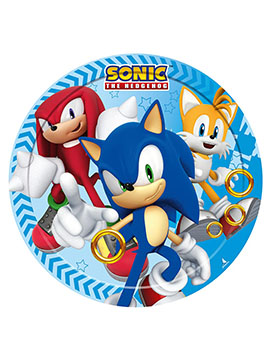 Juego de 8 Platos Sonic The Hedgehog 18 cm