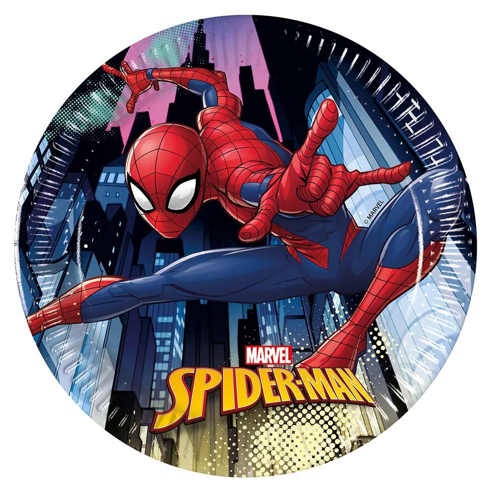 Juego de 8 Platos Spiderman Team Up 20 cm