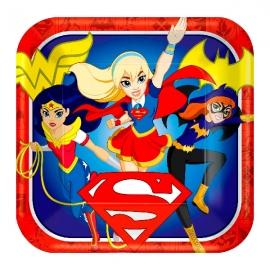 Juego de 8 Platos Super Hero Girl 22cm
