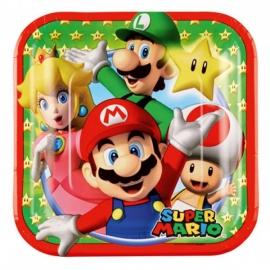 Juego de 8 Platos Super Mario