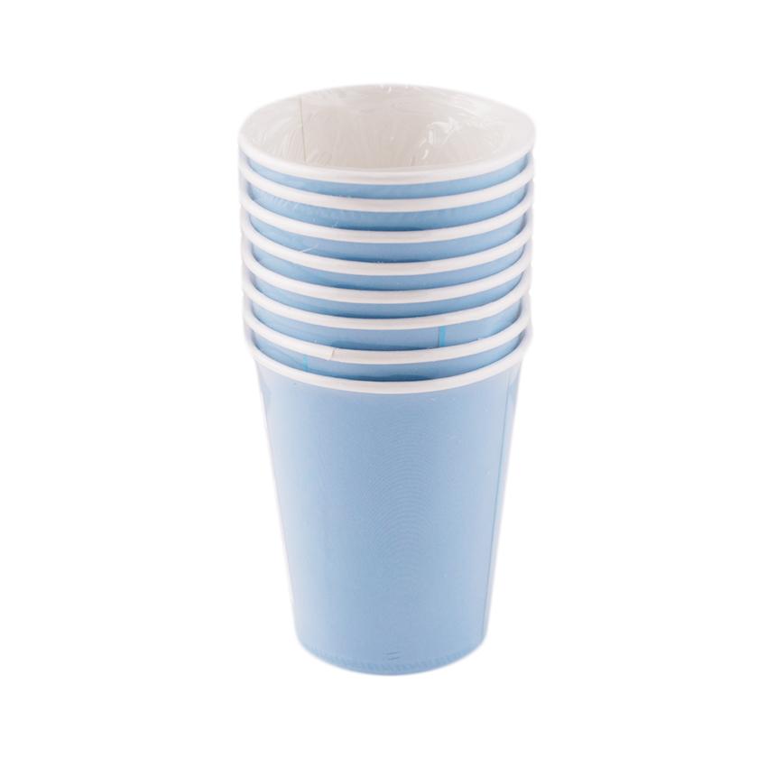 Juego de 8 Vasos Azules - Miles de Fiestas