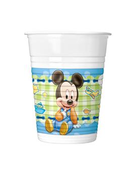 Juego de 8 Vasos Mickey Bebé - Comprar Online {Miles de Fiestas}