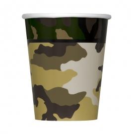 Juego de 8 Vasos Camuflaje Militar