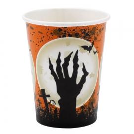 Juego de 8 vasos cementerio Halloween