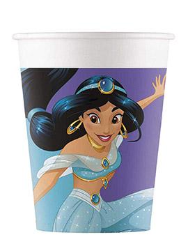 Juego de 8 Vasos Princesa Jasmín Disney