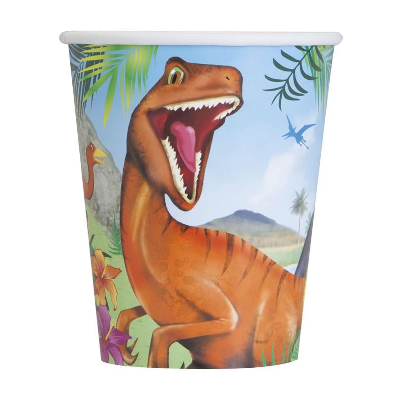 Juego de 8 Vasos Dinosaurios