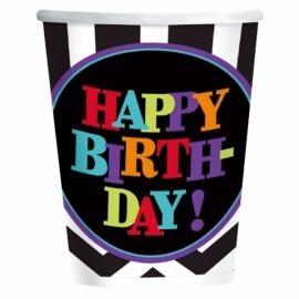 Juego de 8 Vasos Happy Birthday