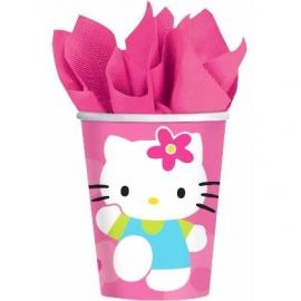 Juego de 8 vasos Hello Kitty