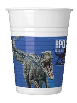 Set 8 Vasos Jurassic World Modelo B