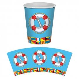 Juego de 8 Vasos Nautical