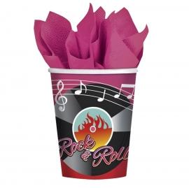 Juego de 8 vasos Rock and Roll