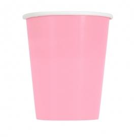 Juego de 8 Vasos Rosa Pastel