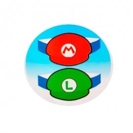 Juego de 8 Viseras Super Mario y Luigi - Miles de Fiestas