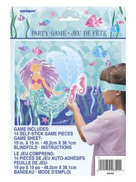 Juego infantil para fiestas y cumpleaños de sirena