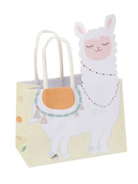 Juego de 10 bolsas pequeñas para regalos de la colección Llama Love