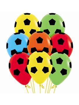 Juego de 12 globos de fútbol con colores surtidos de 30 cm