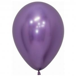 Pack de 12 Globos Reflex Violeta 30 cm
