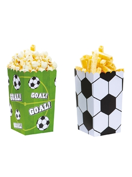 Cajas para Dulces Fútbol 6 ud - DECORA