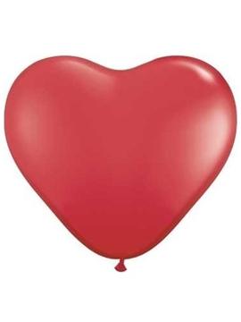 Juego de 6 globos Corazón Rojo