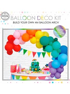 Arco de globos de fiestas arcoiris