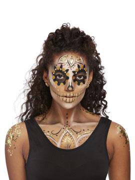 Kit Maquillaje Dorado Día de los Muertos