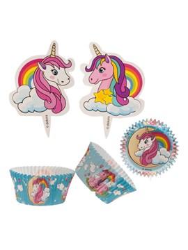 Kit para Decoración de Cupcakes Unicornio