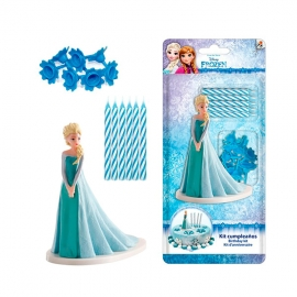 Kit para Decorar Tartas Frozen Elsa