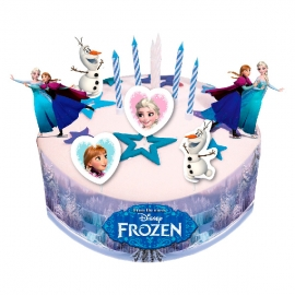 Kit para Decorar Tartas Frozen