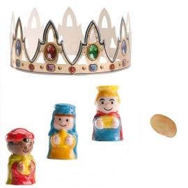 Kit Roscón de Reyes Nº 3 (Rey, haba y corona)