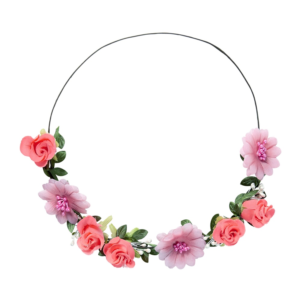 Lazo para Cabeza con Flores Rosas