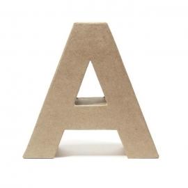 Letra A de Cartón 17cm