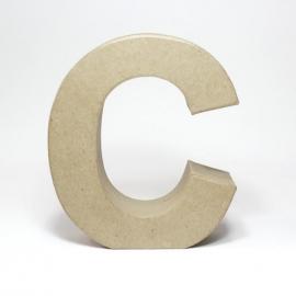 Letra C de Cartón 17cm