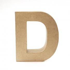 Letra D de Cartón 17cm