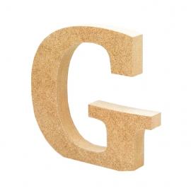 Letra de Madera G 12 cm