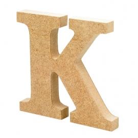 Letra de Madera K 12 cm