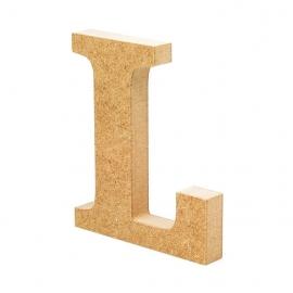 Letra de Madera L 12cm