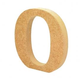 Letra de Madera O 12cm