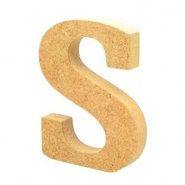 Letra de Madera S 12cm