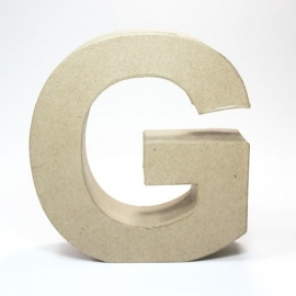 Letra G de Cartón 17cm