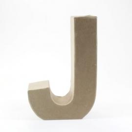 Letra J de Cartón 17cm