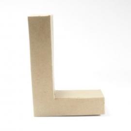 Letra L de Cartón 17cm