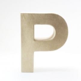 Letra P de Cartón 17cm