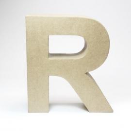 Letra R de Cartón 17cm