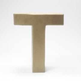 Letra T de Cartón 17cm