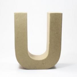 Letra U de Cartón 17cm