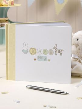Libro de firmas de 34 páginas de la colección Baby Miffy